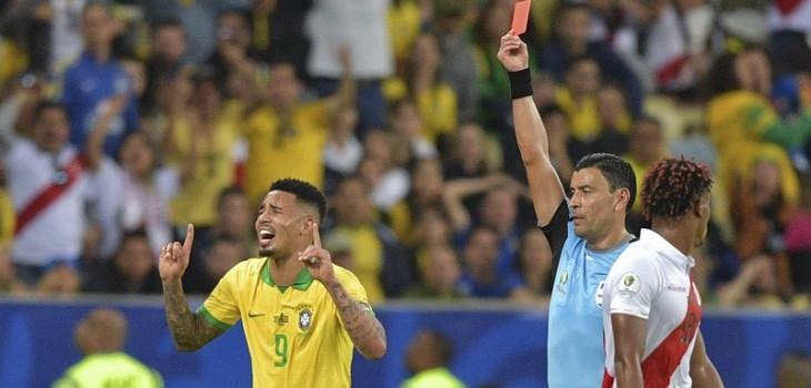 Llanto de Gabriel Jesús tras ser expulsado en la final de la Copa América es el meme del momento