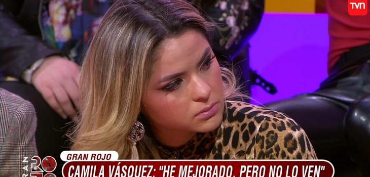 Camila Vásquez lloró tras recordar la frustración por su presentación de este martes en el Gran Rojo