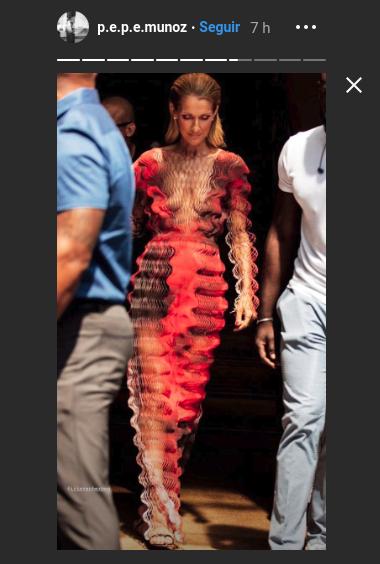 Celine Dion se roba todas las miradas en París con vestido 3D