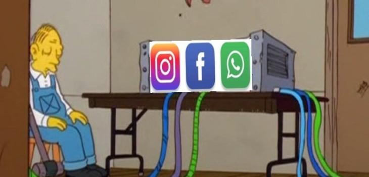 Memes caída Whatsapp, Facebook e Instagram
