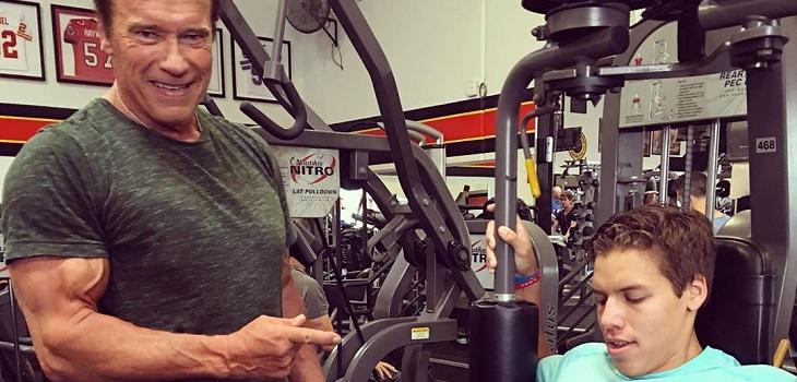 El hijo de Arnold Schwarzenegger que quiere seguir los pasos de su padre en el fisicoculturismo