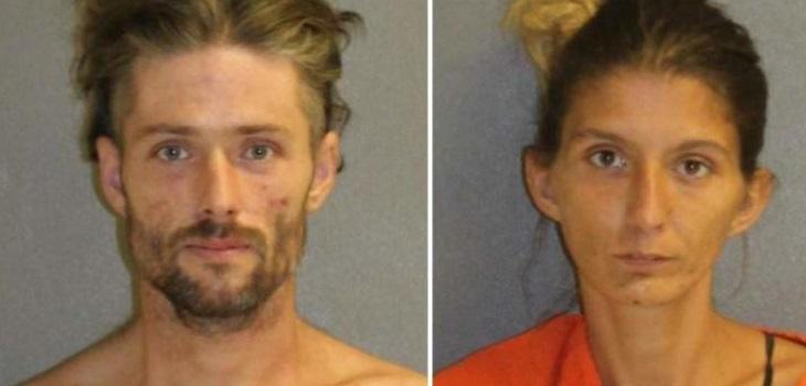 Pareja es detenida por drogarse al interior de un auto en presencia de su hija de dos años
