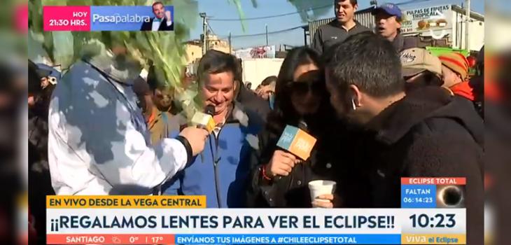 Viva la Pipol incómodo momento en despacho en vivo les lanzaron verduras