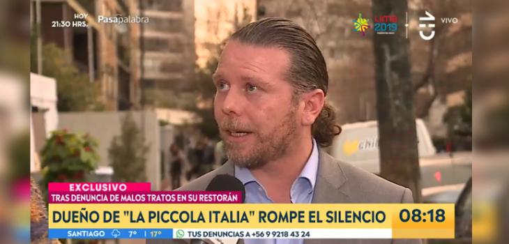 Dueño de Piccola Italia rompió el silencio tras denuncia de trabajadores: