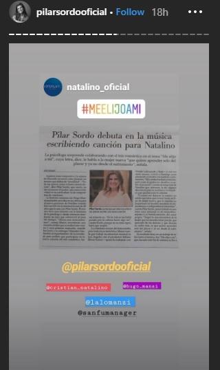 Pilar Sordo escribió la letra de una canción nueva de Natalino