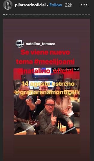 Pilar Sordo escribió la letra para una nueva canción de la banda Natalino