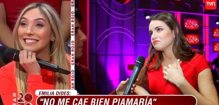 Piamaría arremetió contra Emilia: la trató de insegura