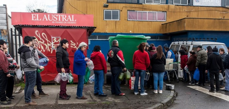 corte de agua en Osorno