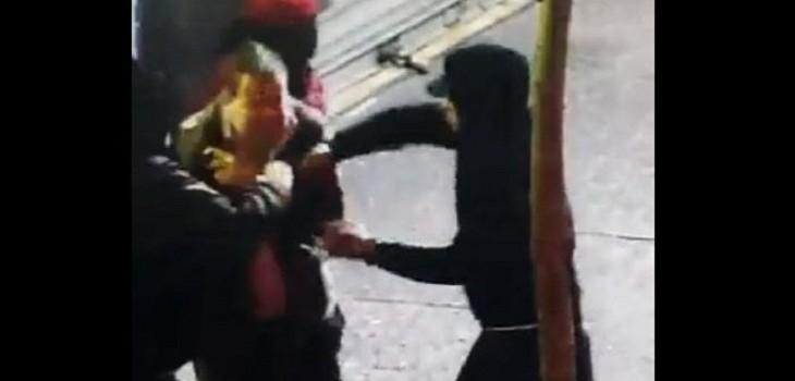 momento del asalto a turistas españoles