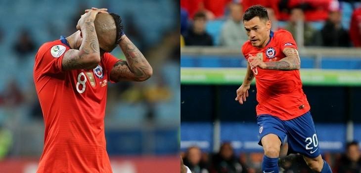 los mejores y peores chilenos en copa america