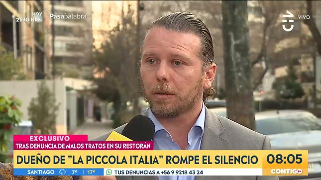Dueño de Piccola Italia rompió el silencio tras denuncia de trabajadores