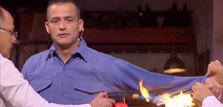 Iván Núñez 'Nada te detiene' quemar brazo