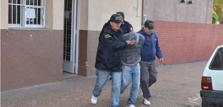 el momento de la detencion de Maximiliano González