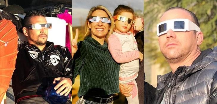 famosos disfrutaron eclipse solar