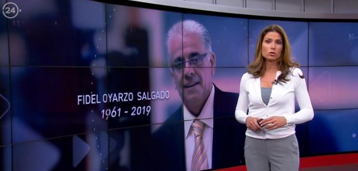 Carolina Escobar se emocionó en pleno noticiero tras homenaje al fallecido Fidel Oyarzo