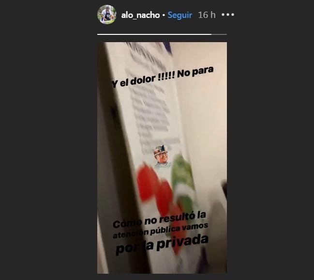 Ignacio Román reclamó por atención en hospital