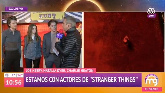 La confusión de José Miguel Viñuela con los actores de Stranger Things en plena entrevista