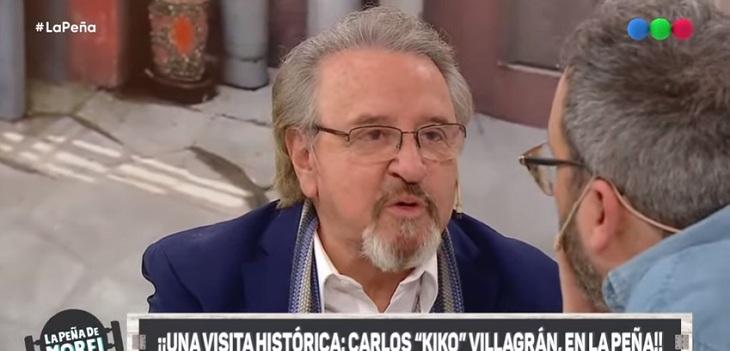 Carlos Villagrán visito telefe
