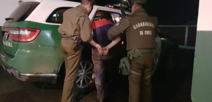 padre detenido en Lanco