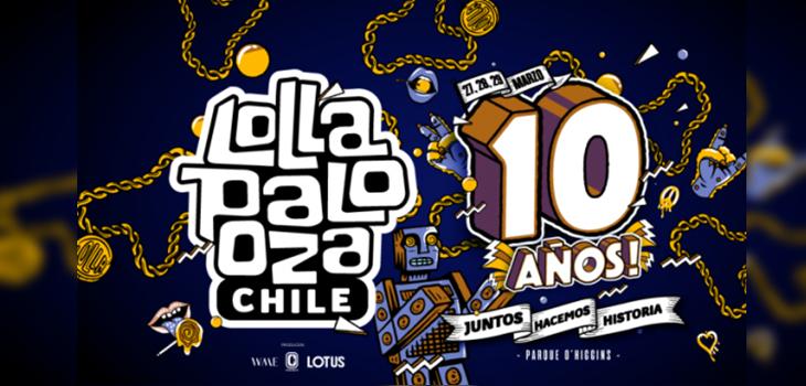 Lollapalooza Chile anuncia fecha para su edición 2020