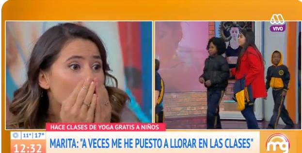 Marita García fue sorprendida por sus alumnos de yoga
