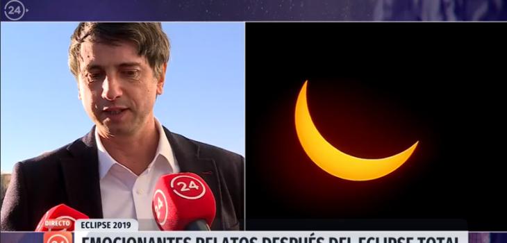 Ministro de Ciencia se emocionó en medio del eclipse y lanzó sentida reflexión