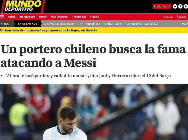 medio español criticas johnny herrera