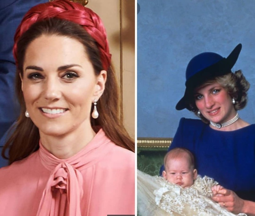 Kate Middleton aros bautizo Archie Lady Di bautizo Harry
