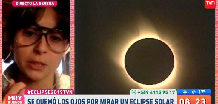 daniela ponce se quemo la retina viendo eclipse 2010