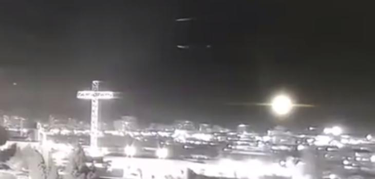 Cámara de seguridad captó supuestos ovnis volando en Concepción