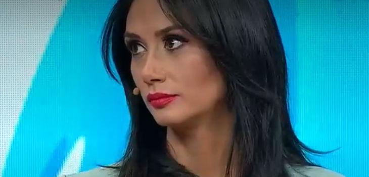 Pamela Díaz se enojó porque le tiraron verduras