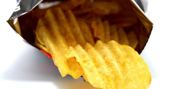exceso de aire en papas fritas