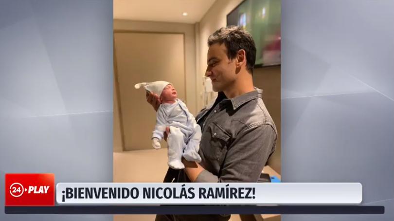 Nació hijo de Gonzalo Ramírez: equipo de 24 Horas compartió fotos del bebé y le envió tierno saludo