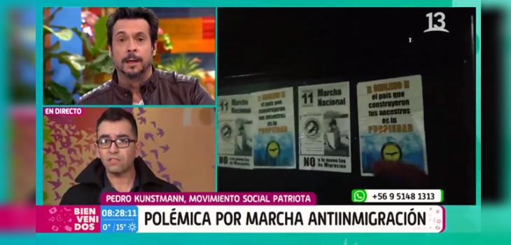 Pedro Kunstmann de Movimiento Social Patriota encaró a Mauricio Jürgensen: