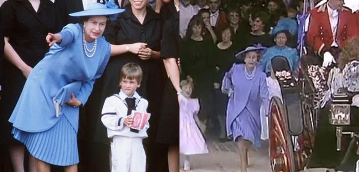 Reina Isabel persiguiendo a William en boda del príncipe Andrew
