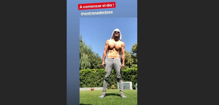 Rodrigo Sepúlveda se unió a los ejercicios de Juanes y Maluma: logró un abdomen tonificado