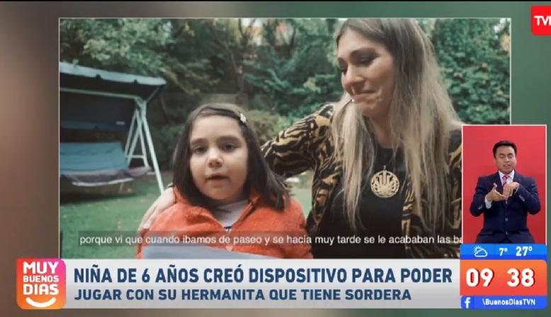 Pequeña de 6 años creó dispositivo para su hermana de 3 que padece sordera