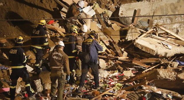 Derrumbe en Valparaíso