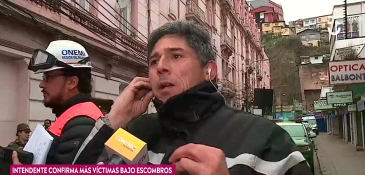 Hombre relató cómo sus nietos se salvaron en derrumbe de Valparaíso