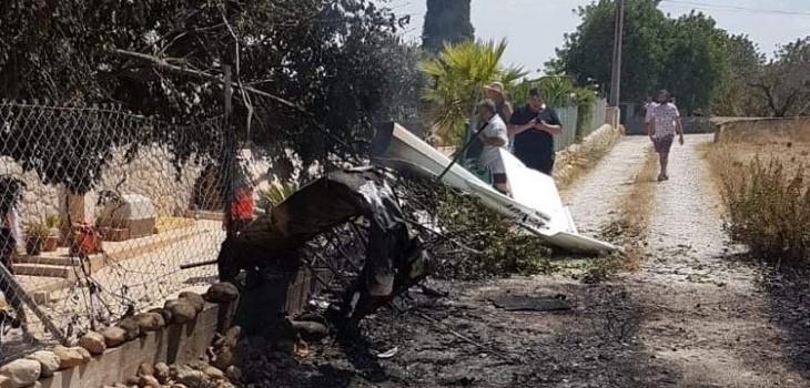 accidente entre helicoptero y avioneta en mallorca