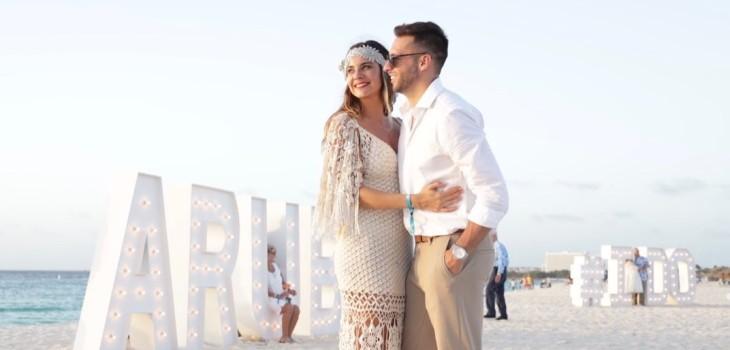 Camila Stuardo se casó por segunda vez en Aruba: vivió romántica experiencia con otras 200 parejas