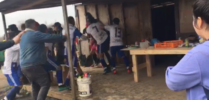 brutal pelea que ensució el fútbol amateur en San Pedro de la Paz