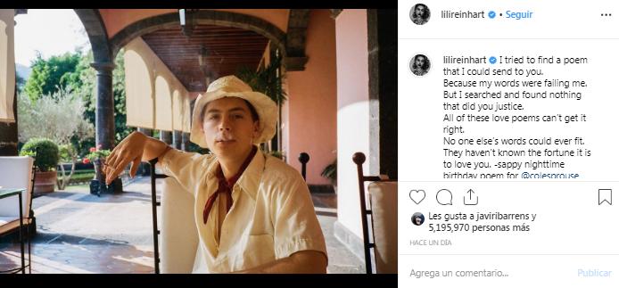 Lili Reinhart dedicó romántico poema a Cole Sprouse por su cumpleaños y finiquitó rumores de quiebre