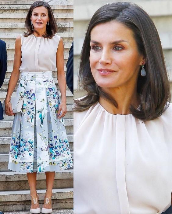 """Reina Letizia al """"natural"""": mostró orgullosa sus canas en último evento antes de sus vacaciones"""