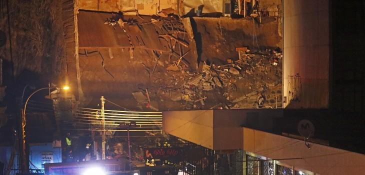 derrumbe de casa en valparaiso