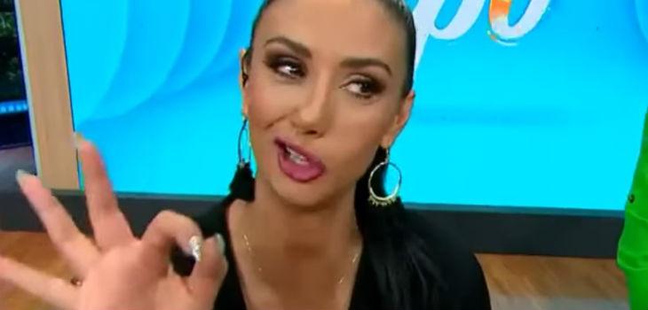 Por qué Pamela Díaz animó con la boca chueca