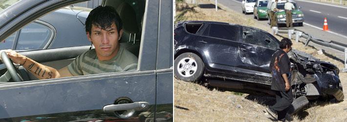 7 accidentes que han protagonizado futbolistas chilenos
