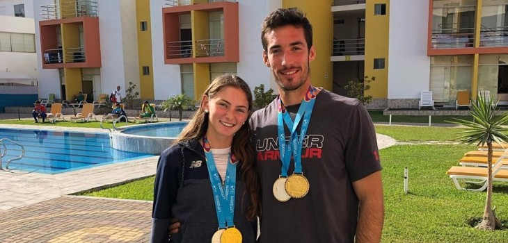 La historia de amor que une a Isi Niemeyer e Ignacio Abraham, la pareja dorada del remo en Lima 2019