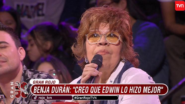 """Benja Durán y su crítica luego que jurado de Rojo salvara a Andrei de capilla: """"Edwin lo hizo mejor"""""""