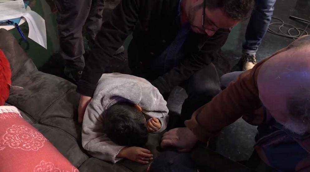 Miguelito mostró las heridas de su accidente en pleno ensayo de Morandé